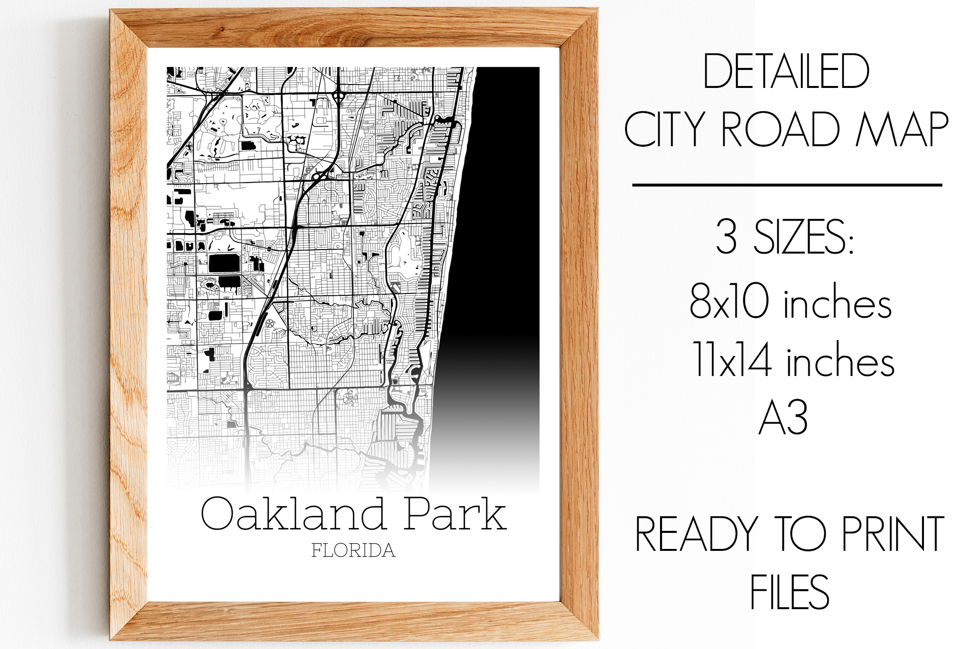 Download Free Oakland Park Florida City Map Graphic By Svgexpress Creative for Cricut Explore, Silhouette and other cutting machines.