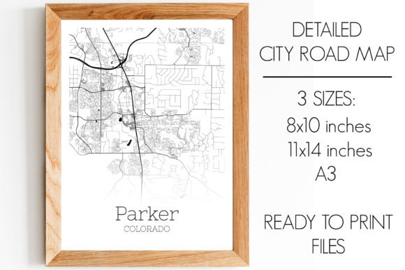 Download Free Parker Colorado City Map Graphic By Svgexpress Creative Fabrica for Cricut Explore, Silhouette and other cutting machines.