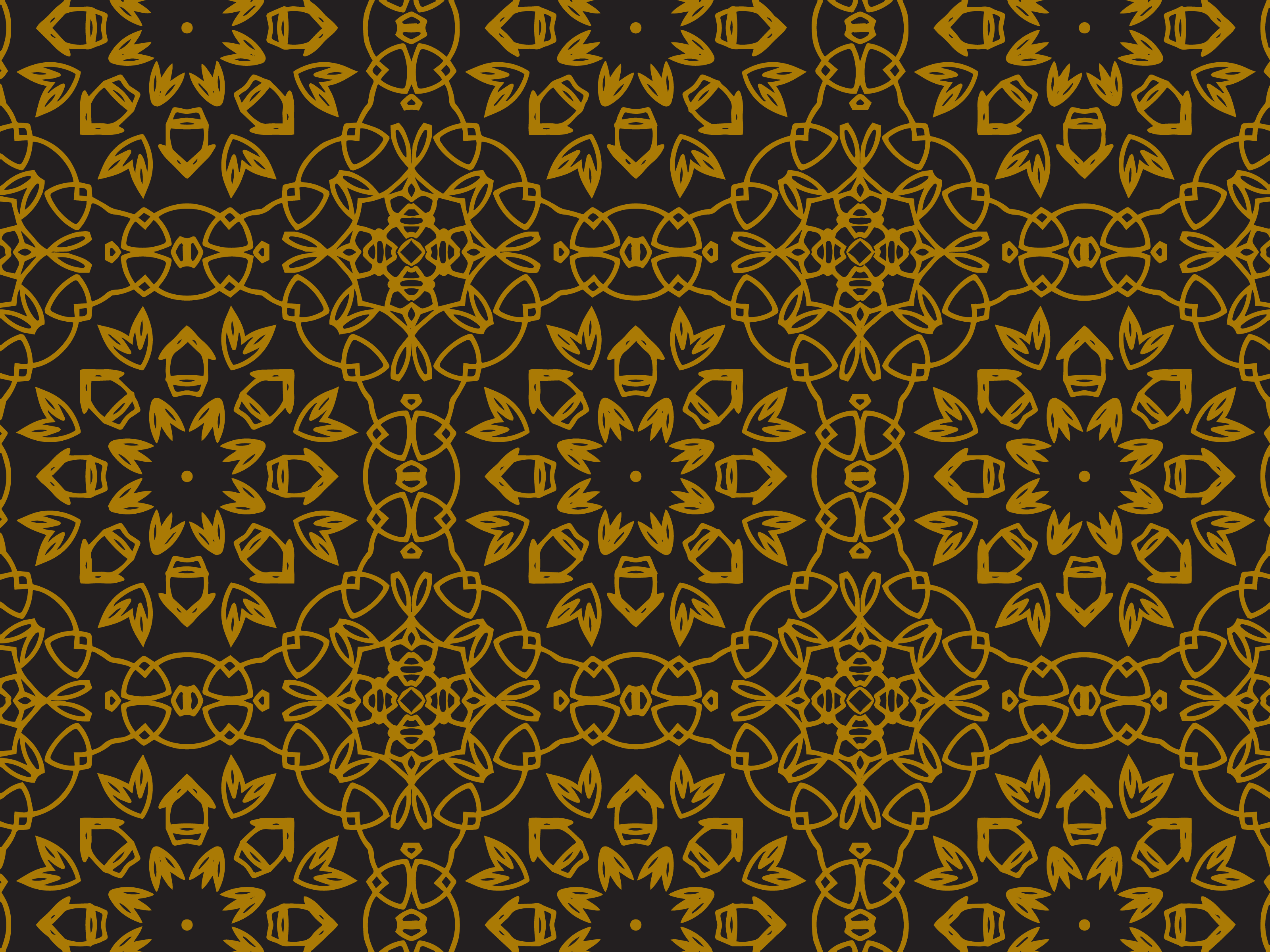 Download Free Pattern Gold Blooming Flower Graphic By Silkymilkycreative for Cricut Explore, Silhouette and other cutting machines.