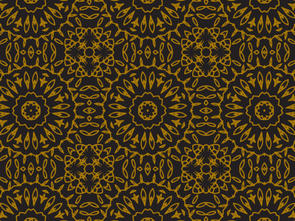 Download Free Pattern Gold Flower Line Style Graphic By Silkymilkycreative for Cricut Explore, Silhouette and other cutting machines.