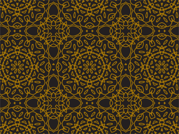 Pattern Gold Flowering Line Style Graphic By Silkymilkycreative
