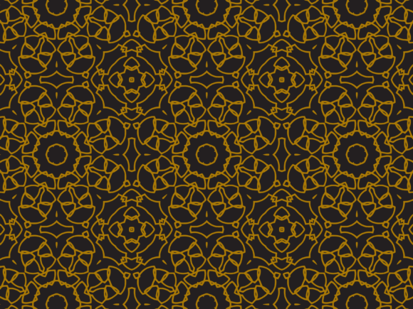 Pattern Gold Irregular Ornament Lines Graphic By