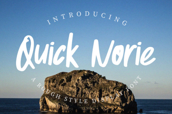 Print on Demand: Quick Norie Display Font By dwikrisdiantoro9 - Image 1