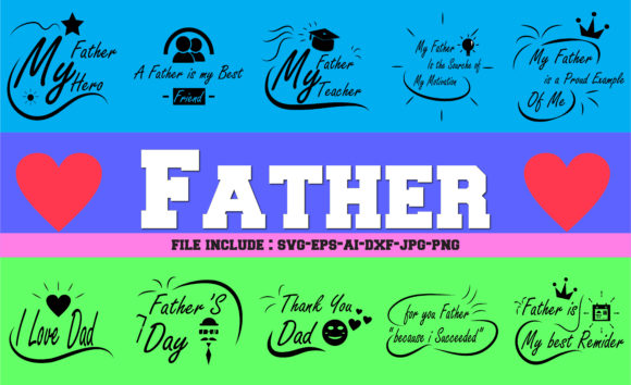 Download Free Quotes For Dad Graphic By Mahesa Design Creative Fabrica for Cricut Explore, Silhouette and other cutting machines.
