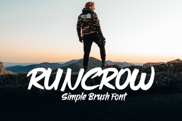 Download Free Runcrow Font By Fontkong Creative Fabrica for Cricut Explore, Silhouette and other cutting machines.