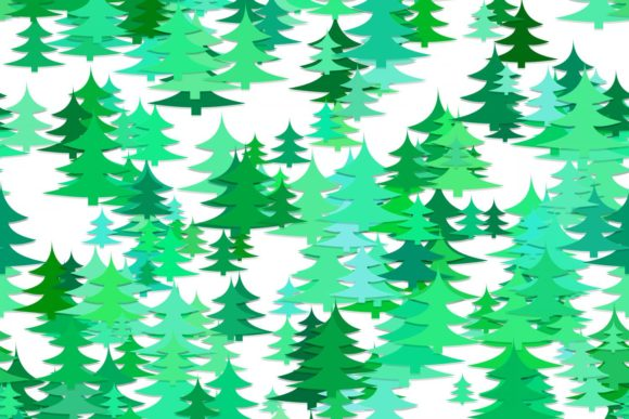 Download Free Seamless Pine Tree Background Graphic By Davidzydd Creative for Cricut Explore, Silhouette and other cutting machines.