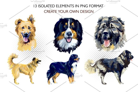 Sherphed Dogs Cliparts Graphic Illustrations By Мария Кутузова - Image 2