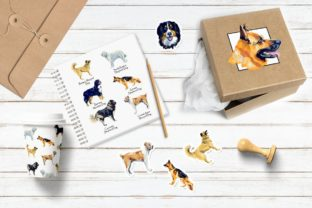 Sherphed Dogs Cliparts Graphic Illustrations By Мария Кутузова 6