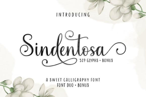 Print on Demand: Sindentosa Script & Handwritten Font By MJB Letters