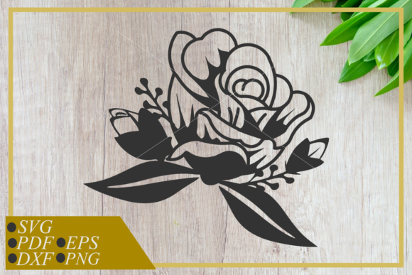 Download Free Single Rose Art Line Graphic By Rizuki Store Creative Fabrica for Cricut Explore, Silhouette and other cutting machines.