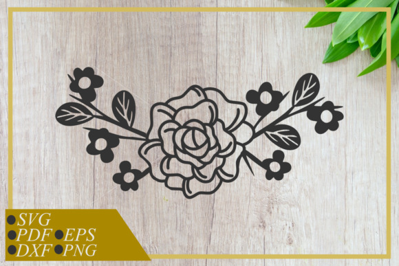 Single Rose Art Line Graphic Crafts By RIZUKI Store