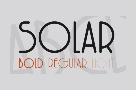 Print on Demand: Solar Sans Serif Font By infinitismo