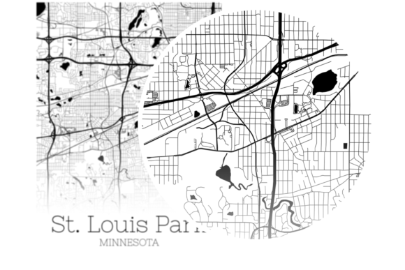 Download Free St Louis Park Minnesota City Map Graphic By Svgexpress for Cricut Explore, Silhouette and other cutting machines.