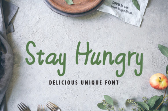 Print on Demand: Stay Hungry Script & Handwritten Font By SpoonSummer