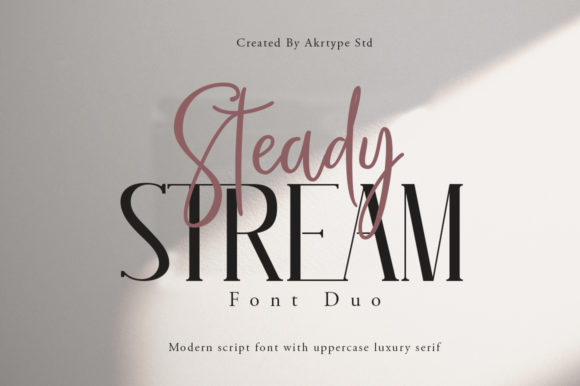 Print on Demand: Steady Stream Script & Handwritten Font By akrtype