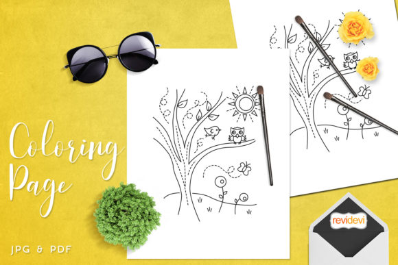 Download Free Summer Sun Coloring Page Graphic By Revidevi Creative Fabrica for Cricut Explore, Silhouette and other cutting machines.
