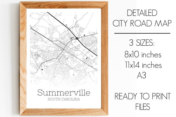 Summerville South Carolina City Map Graphic By Svgexpress