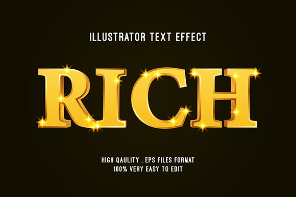 Text Effect - Rich Gold Text Style Graphic Graphic Templates By Amrikhsn