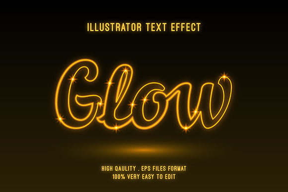 Text Effect - Gold Glow Text Style Graphic Graphic Templates By Amrikhsn