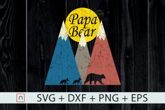 Print on Demand: Twin Dad, Twins Papa Bear Father's Day Graphic Print Templates By Novalia