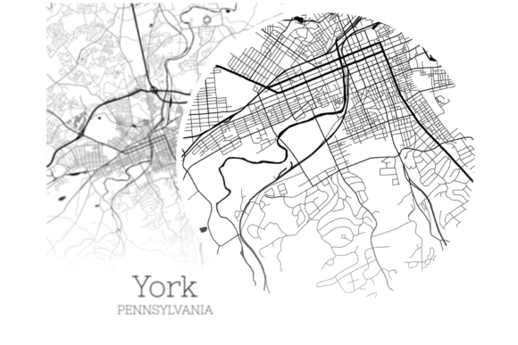 Download Free York Pennsylvania City Map Graphic By Svgexpress Creative Fabrica for Cricut Explore, Silhouette and other cutting machines.