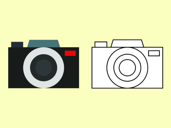 Download Free Casual Camera Kids Coloring Vector Beach Graphic By 1tokosepatu SVG Cut Files