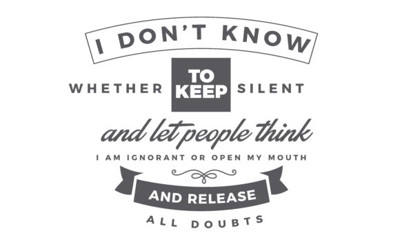 Print on Demand: Keep Silent and Let People Think I Am Graphic Illustrations By baraeiji
