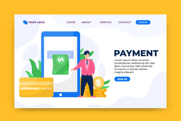 Payment Concept Landing Page Template Graphic Landing Page Templates By OKEVECTOR