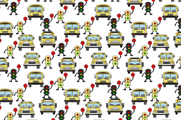 Download Free School Bus Pattern Graphic By Curutdesign Creative Fabrica SVG Cut Files