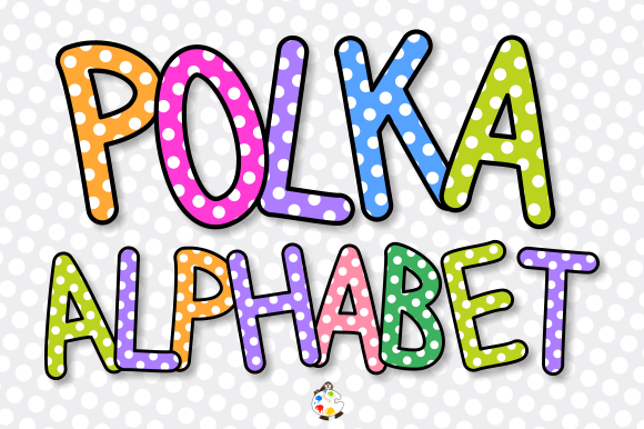 Print on Demand: Alphabet Polka Dot Lettering Clipart Gráfico Crafts Por Prawny
