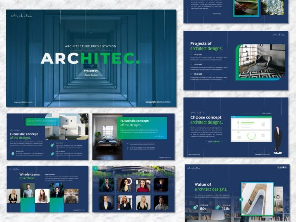 Architec - Architecture Googleslide Graphic Presentation Templates By Yumnacreative