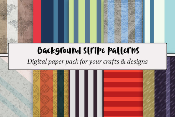 Download Free Background Stripe Patterns Graphic By A Design In Time for Cricut Explore, Silhouette and other cutting machines.