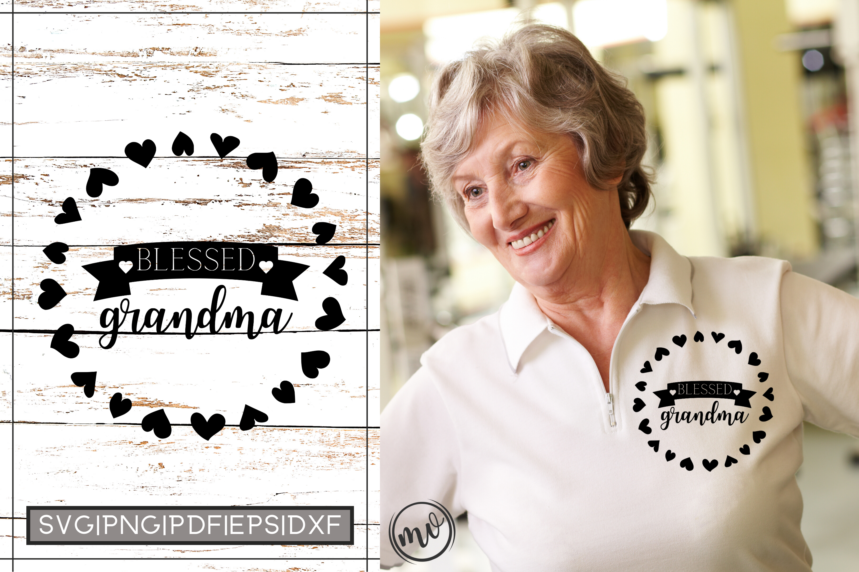 Blessed Grandma Cut File For Cricut Graphic By Mockup Venue