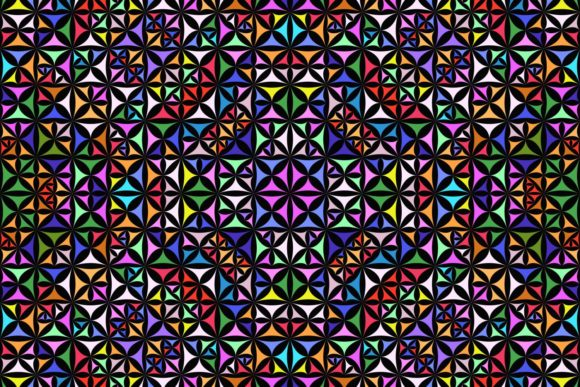 Download Free Colorful Seamless Kaleidoscope Pattern Graphic By Davidzydd for Cricut Explore, Silhouette and other cutting machines.