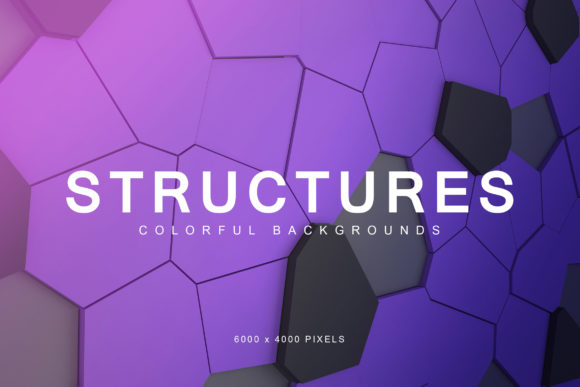 Print on Demand: Colorful Structures Backgrounds Graphic Backgrounds By ArtistMef