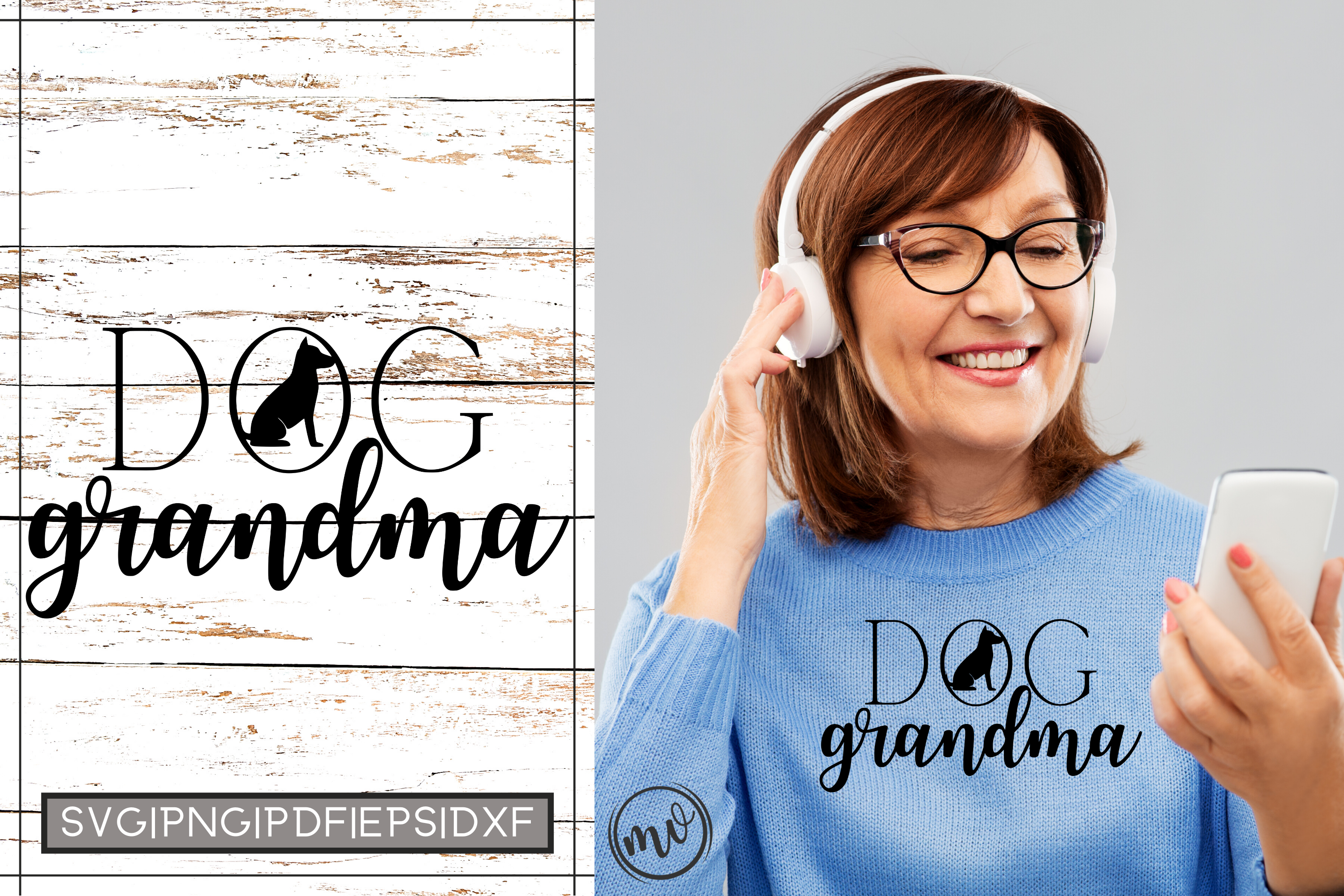 Download Free Dog Grandma Cut File For Cricut Graphic By Mockup Venue for Cricut Explore, Silhouette and other cutting machines.