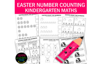 Easter Numbers Count Math Worksheets Graphic K By Happy Printables Club 1