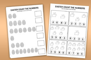 Easter Numbers Count Math Worksheets Graphic K By Happy Printables Club 2