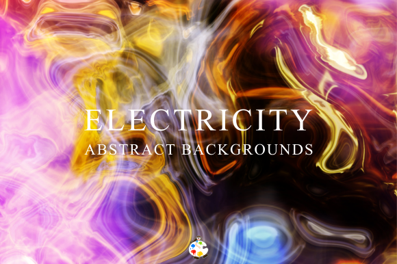 Print on Demand: Electricity Abstract Light Background Graphic Backgrounds By Prawny