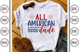 Print on Demand: Fourth of July Design, All American Dude Graphic Print Templates By GraphicsBooth