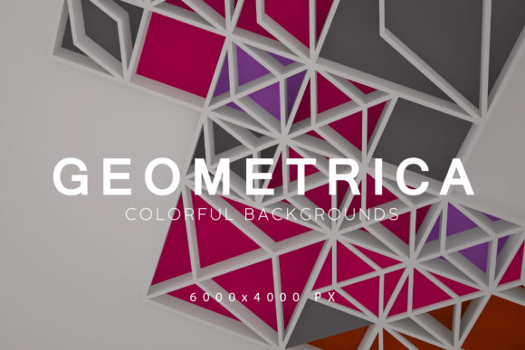Print on Demand: Geometrica Abstract Backgrounds Graphic Backgrounds By ArtistMef