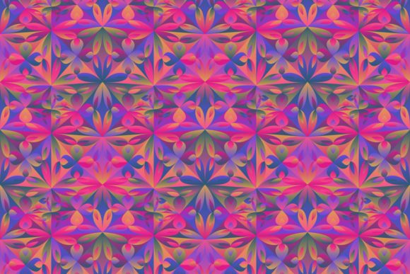 Gradient Seamless Floral Pattern Graphic By Davidzydd Creative