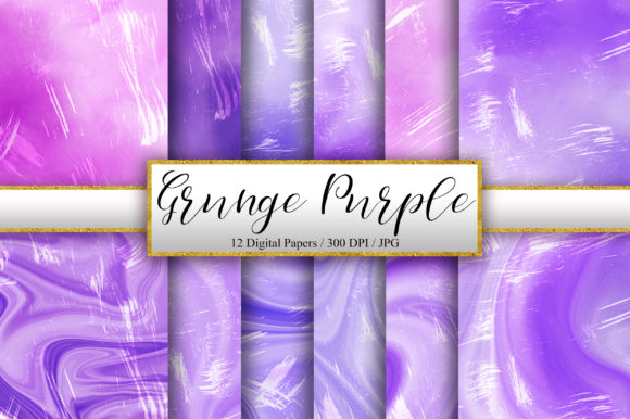 Grunge Purple Watercolor Background Graphic Backgrounds By PinkPearly
