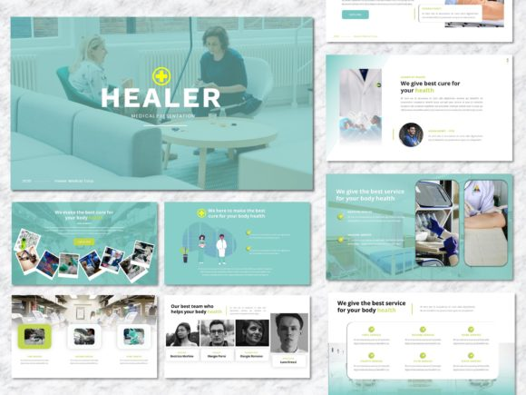 Healer - Medicine PowerPoint Template Graphic Presentation Templates By Yumnacreative
