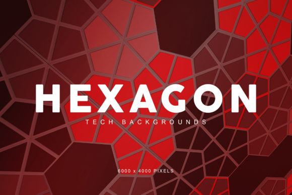 Print on Demand: Hexagon Tech Backgrounds 3 Graphic Backgrounds By ArtistMef