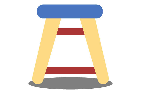 Download Free Illustration Of Medium Chair Graphic By Yapivector Creative for Cricut Explore, Silhouette and other cutting machines.