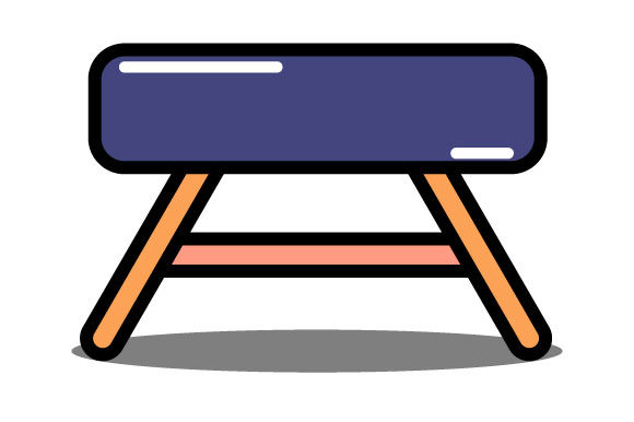 Download Free Illustration Of Short Chair Graphic By Yapivector Creative Fabrica for Cricut Explore, Silhouette and other cutting machines.