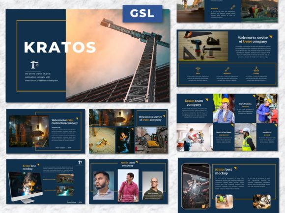 Kratos - Contruction Googleslide Graphic Presentation Templates By Yumnacreative