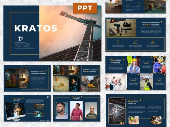 Kratos - Contruction Powerpoint Presenta Graphic Presentation Templates By Yumnacreative