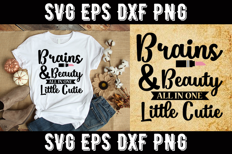 Download Free Makeup Brains Beauty All In One Graphic By Design Store for Cricut Explore, Silhouette and other cutting machines.